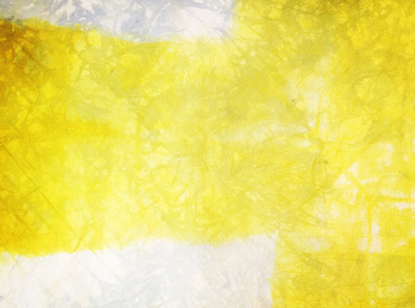 Yellow T,  synthetic dye on canvas, 48″ x 36″, 2015