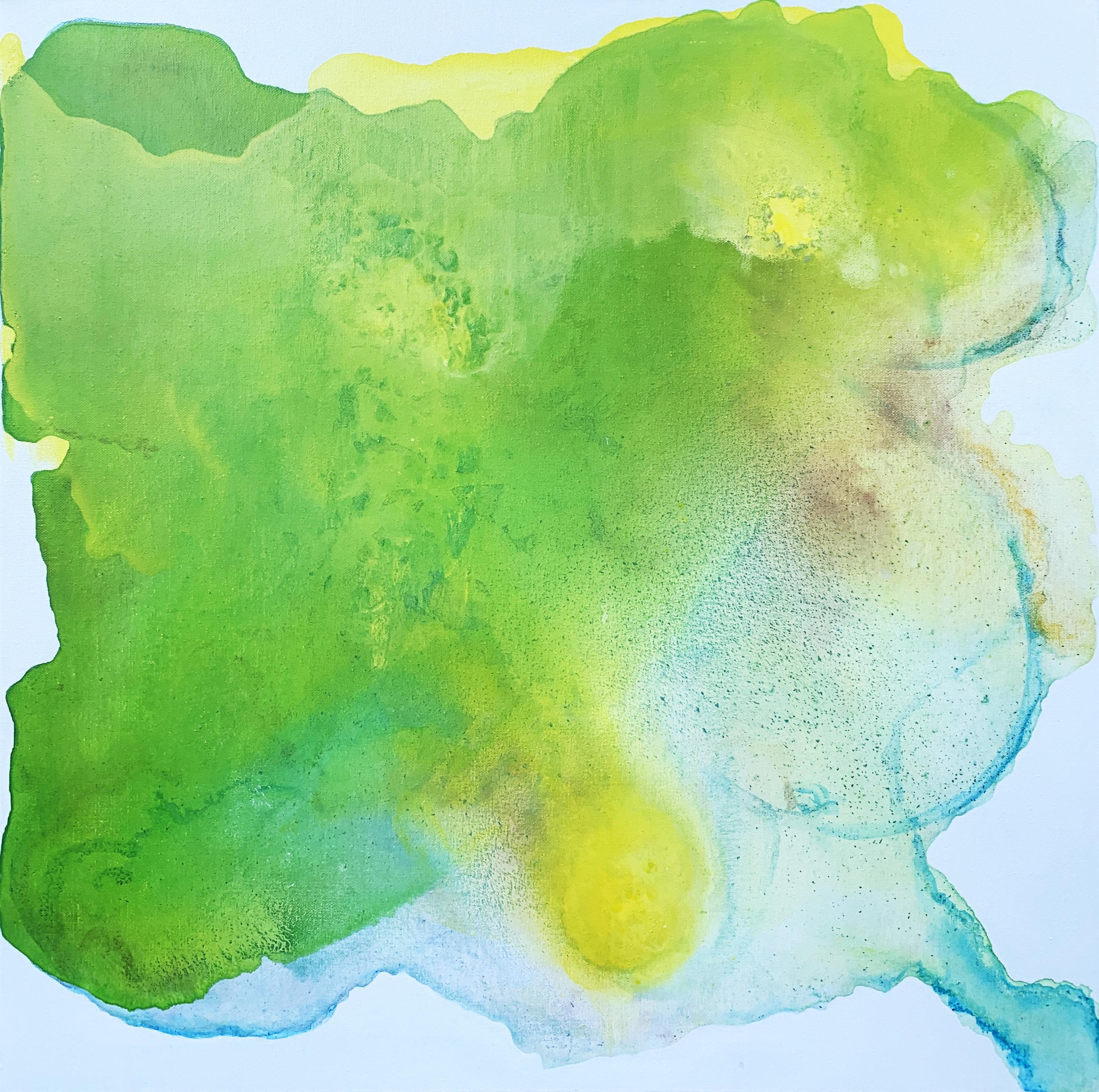 """Heart Chakra,  mixed media on canvas, 24"""" x24"""", 2019 (NFS)"""