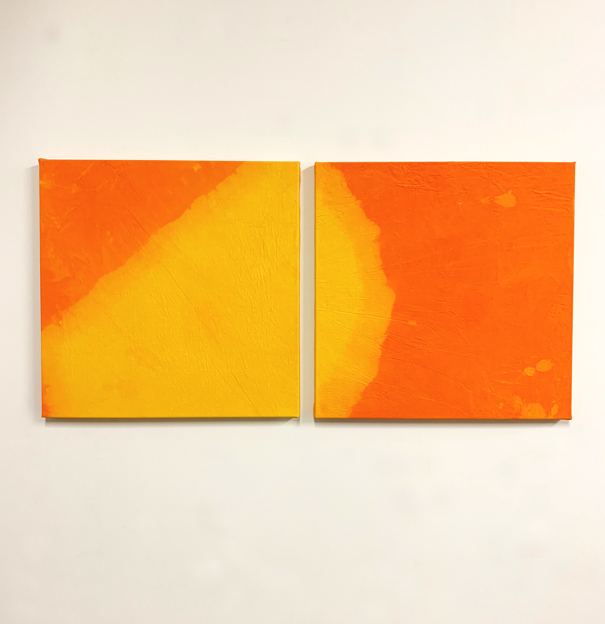 "Solar flare,  dye on canvas, 50"" x 24"", 2019"