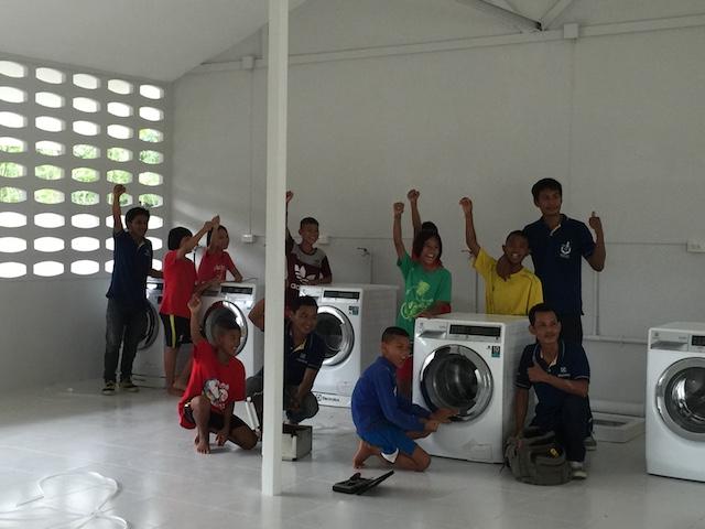 Installation of Washin machine:happy children.JPG