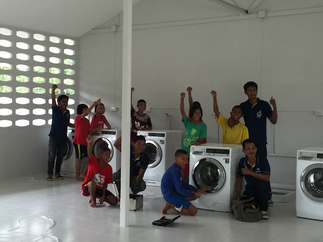 Installation of Washin machine:happy children.JPG