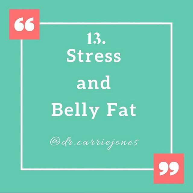 """Question 13: Can chronic high stress lead to more belly fat? Yes it can. 😤 . Ladies, we tend to have more fat on our butt and hips. Our hormones are what dictate our shape compared to men. Men's hormones put their fat more on their upper body - not their hips or booty. 👀 . You have subcutaneous and omental (visceral) fat. Your visceral fat has more 11b-HSD1 enzyme. This enzyme ACTIVATES cortisone into cortisol. 😲 . Estrogen can be made in fat tissue from aromatase. That's the enzyme that converts testosterone and androstenedione into estrogen. Estrogen increases proliferation of preadipocytes and the size of your mature adipocytes (fat cells). 😕 . Basically, more estrogen = more and bigger fat cells. 😯 . Overall, subcutaneous fat has higher aromatase activity than visceral fat. Cortisol greatly increases this activity causing MORE estrogen formation in your subcutaneous fat. 🧐 . Then as you become menopausal, your aromatase activity INCREASES in the visceral fat too! 😖 . If you combine high cortisol with high insulin, your aromatase increases in your visceral fat causing MORE estrogen. 😳 . What does this mean? 😱 . This means in either subcutaneous or visceral fat, cortisol, insulin and estrogen play a HUGE role in increasing pre-fat cell proliferation and mature fat cell growth. 🤯 . Are cortisol, insulin and estrogen BAD? Nope!! It's always Goldilocks and the 3 Bears. These hormones are critical to many functions in your body but too much all the time is a problem. They need to be """"just right."""" 😧 . Especially in regards to fat gain and fat loss. 💁🏼♀️ . So, get your fasting insulin tested in blood and talk with your Naturopathic doctor or functional practitioner about doing a @dutchtest for hormones and cortisol. 🙌🏼 . Did this post help answer your questions? Tell me below! More to come in the series! ♥️ . McTernan P, et al. J Clin Endo Metab. 2002:87(3);1327-1336. . . . . . #fatloss #weightloss #stress #stressed #tired #bellyfat #burnedout #behealthy #naturopathicme"""
