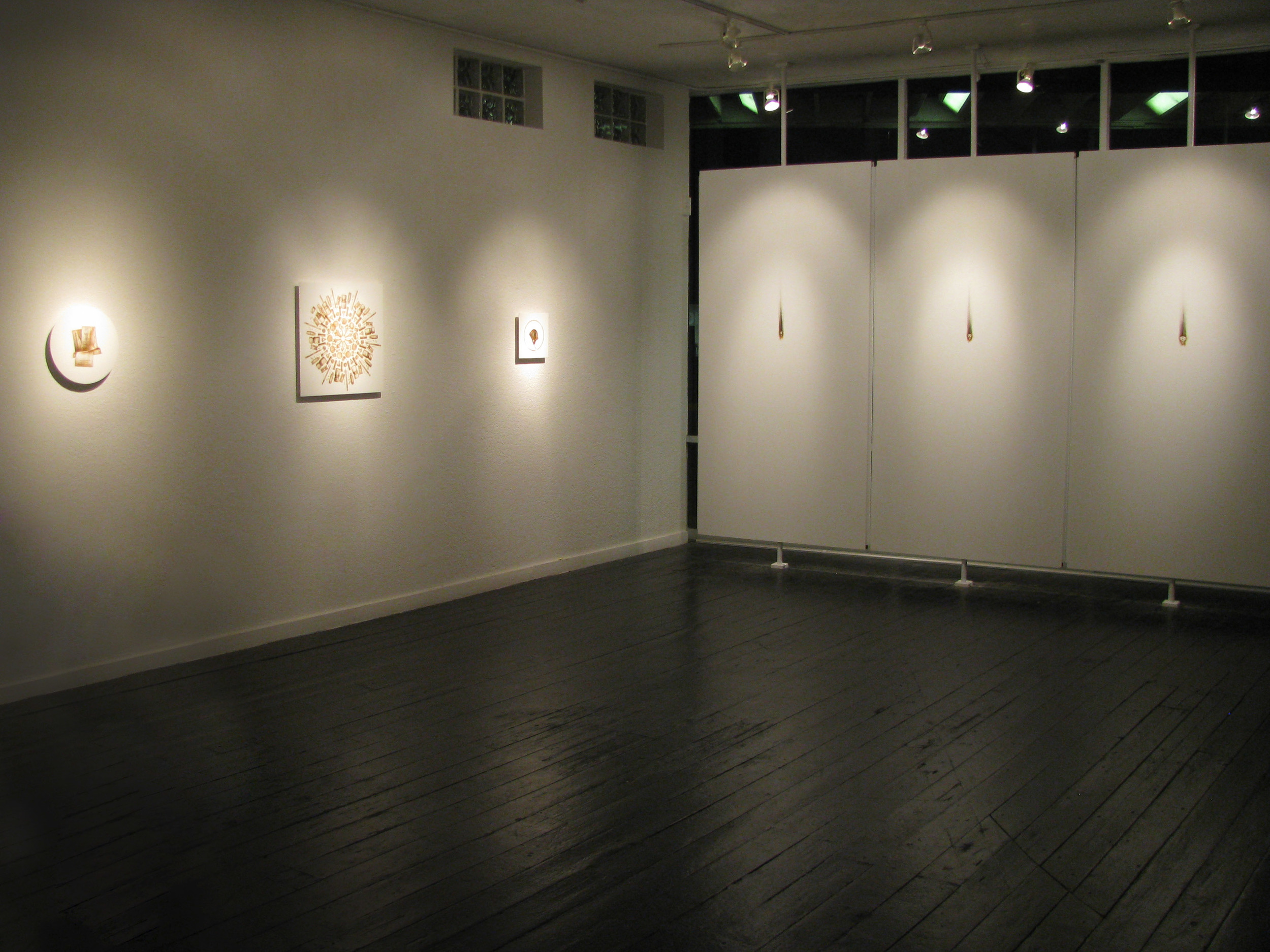 "Installation view of ""Collected and Represented"" at Trifecta Gallery.  Las Vegas, NV. November 4-27, 2010."