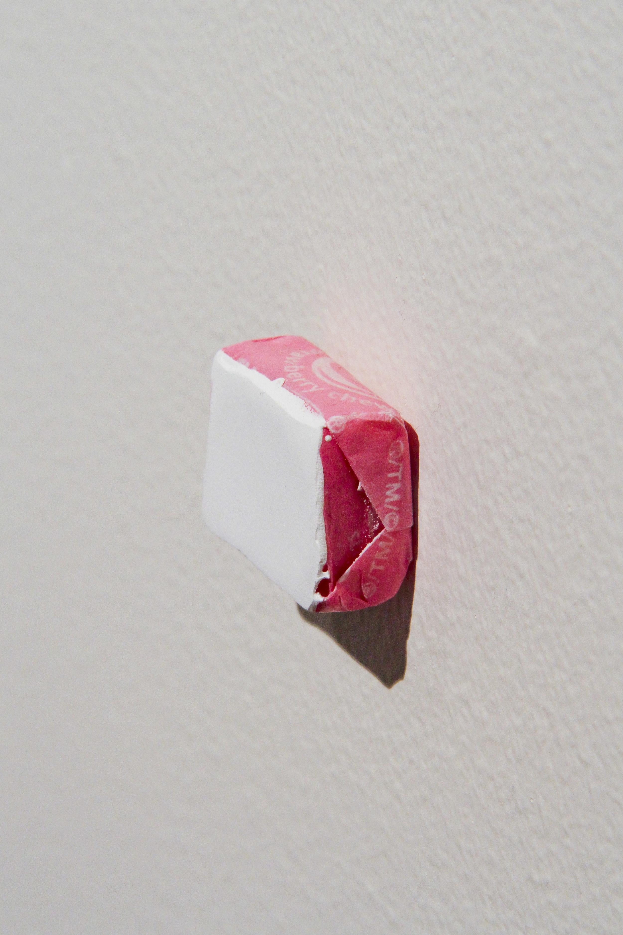 """""""Painting #7"""" - Acrylic on cardboard pizza box -2011 - 1.5 x 1.5 x 0.5"""""""
