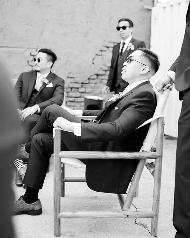 Some groomsmen just have that natural swag.