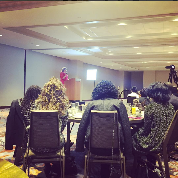 Heather speaking at the 20 Beautiful Women Book Launch in Atlanta, GA.