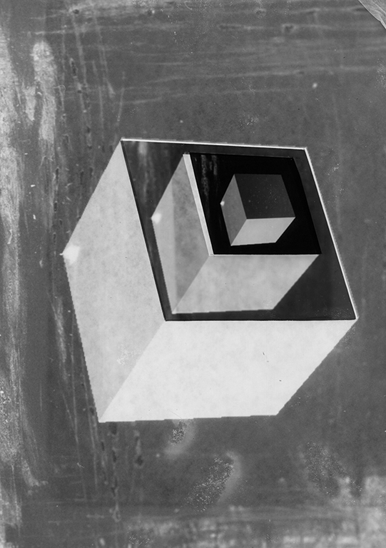 Cube    1 to 5   silver gelatin print  7 x 9.5 in