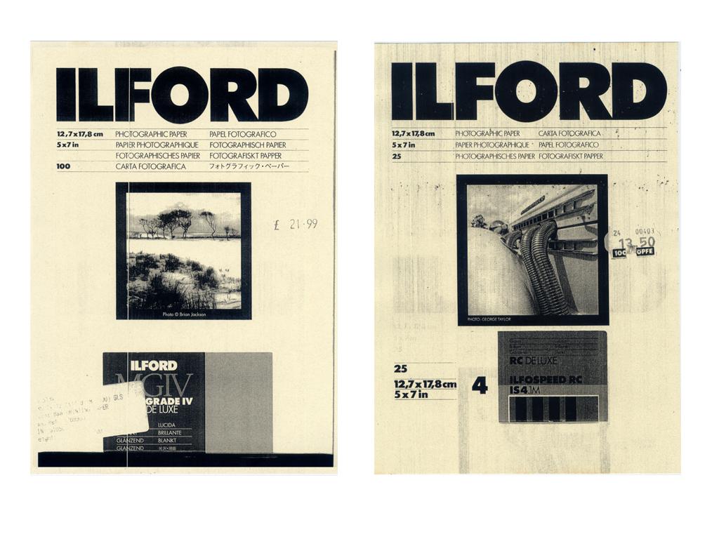 Ilford v  Ilford vi  c-type print  12x16
