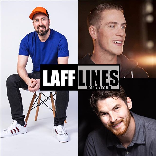This weekend! Chris Griffin (@gristopher) takes the stage joined by Tyler Middleton (@tyler_on_air) and hosted by Travis Nelson (@travisisjoking) Get your tickets online at lafflines.com
