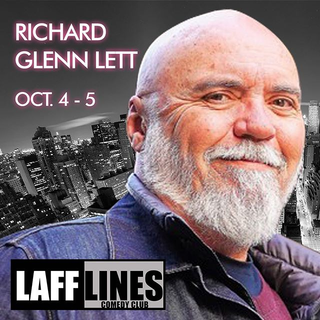Get your tickets now for @richard_g_lett This legend of comedy will be gracing the Lafflines stage this weekend! TICKETS ON SALE NOW! #newwest #newwestminster #lafflines #vancouver #vancouvercomedy