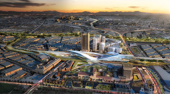 A vision of LA's Union Station in 2050, from  Bustler .