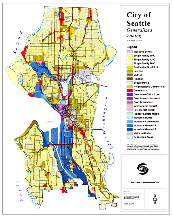 City Of Seattle Zoning Map Look at the Amount of Space in Seattle Dedicated to Single Family