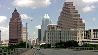Austin's urban capital building in the background. ( source )