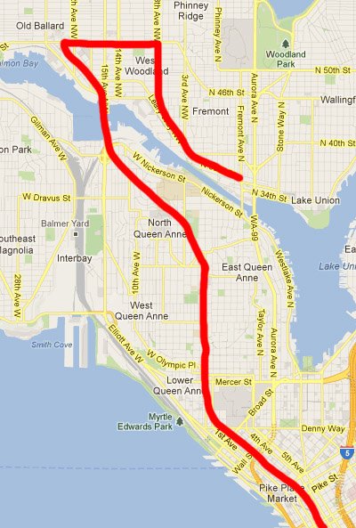My first idea for a subway route, which I've since disavowed and am slightly embarrassed to have ever considered.