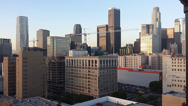 Downtown Los Angeles, view from Ace Hotel roof. Photo by Shane Phillips.