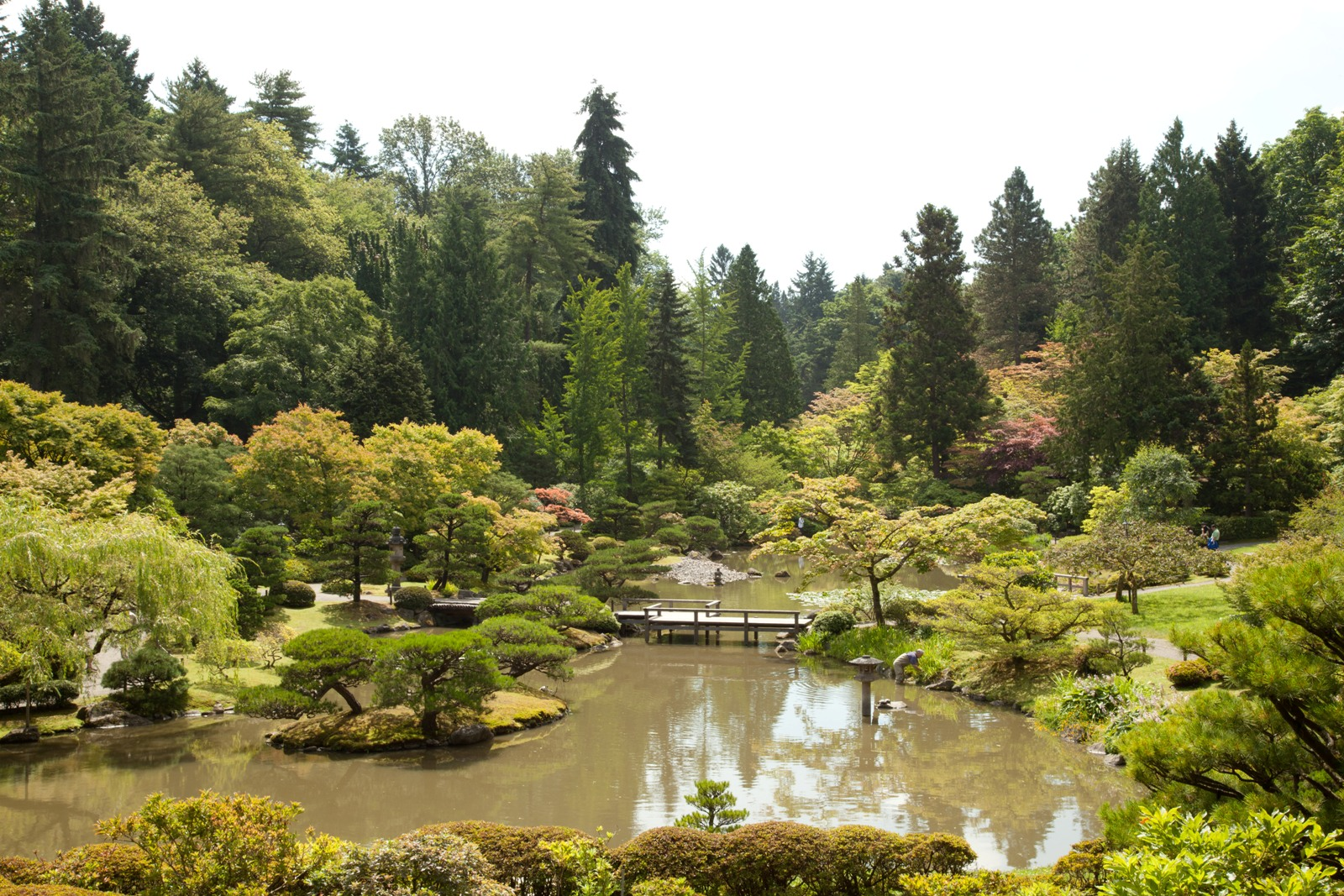 "A section of the Japanese Garden, located in Washington Park, a ""Great Park"" in Seattle. Photo by  Paul Randal ."