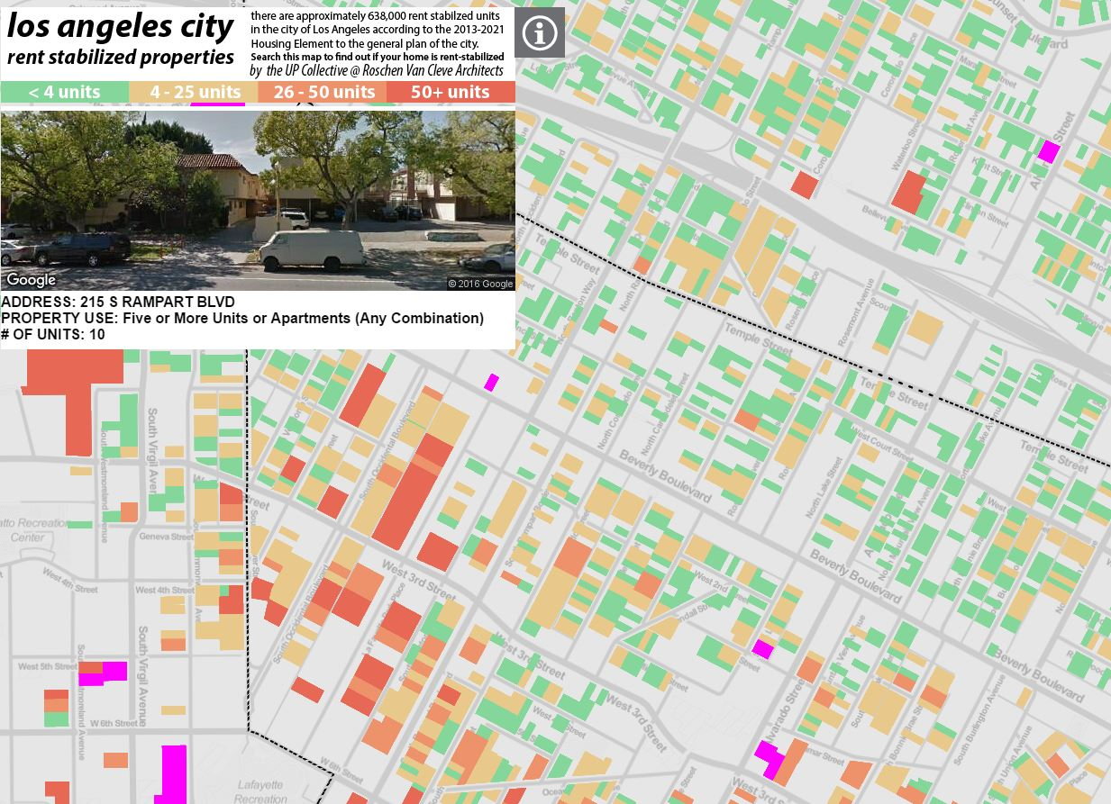 A work in progress map of all the rent-stabilized units in Los Angeles, being put together by  Omar Ureta at theworks.la .