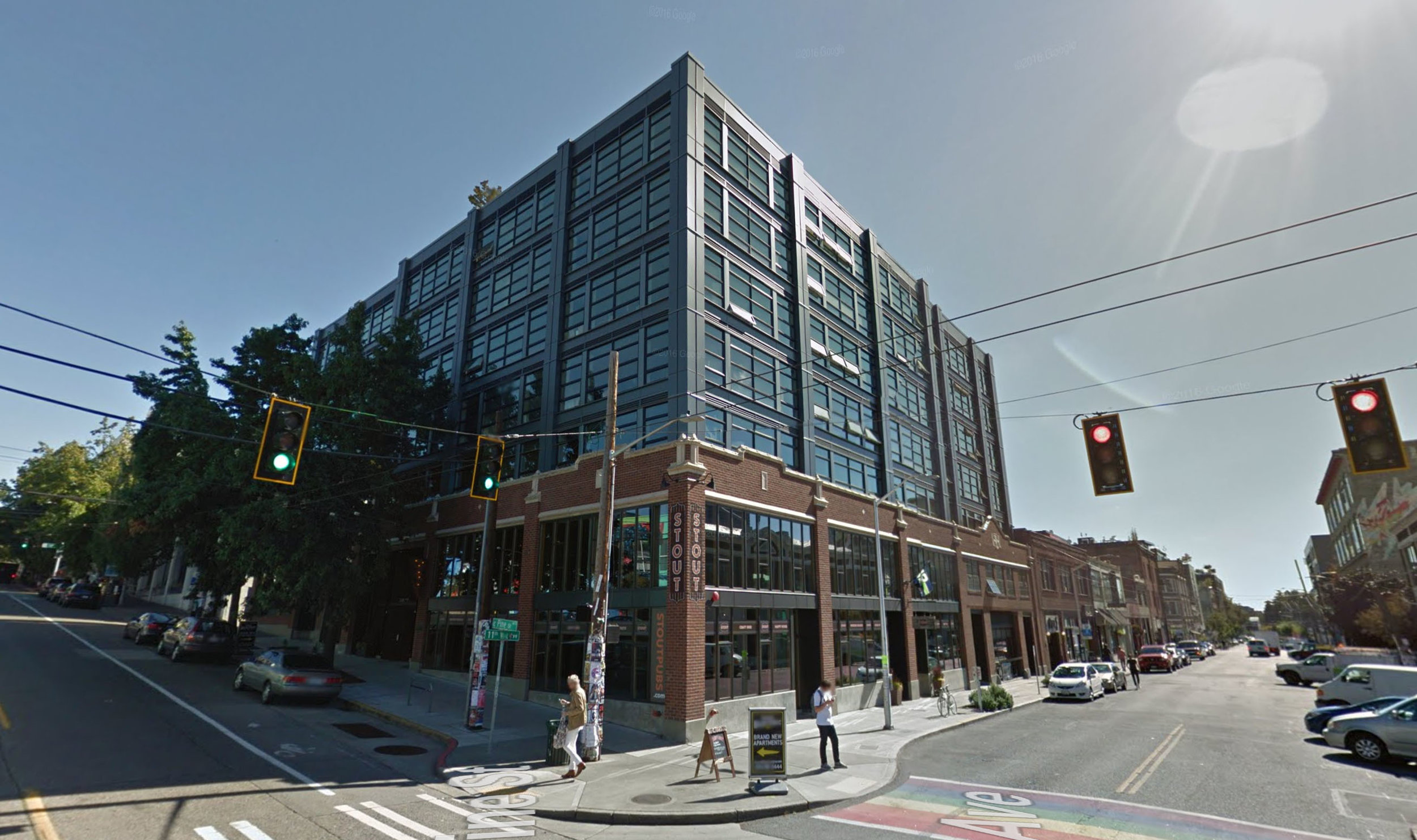 New developments can be designed to retain the heritage features of old structures, such as the facade seen here in a Seattle redevelopment project, while still allowing for growth and densification.