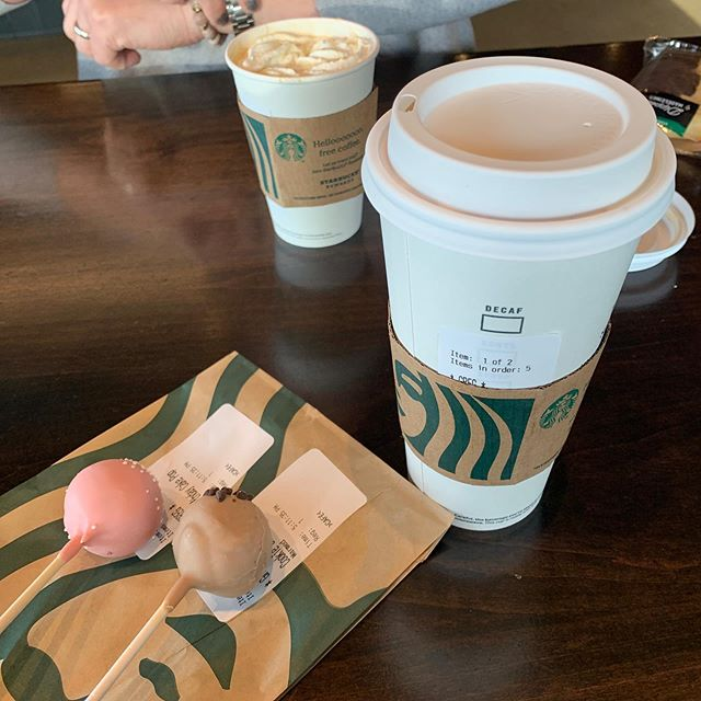 Surgery post-op treat - yum!! #starbucks #cakepopsofinstagram