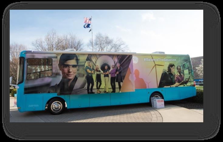 Our GE #BalanceTheEquation bus