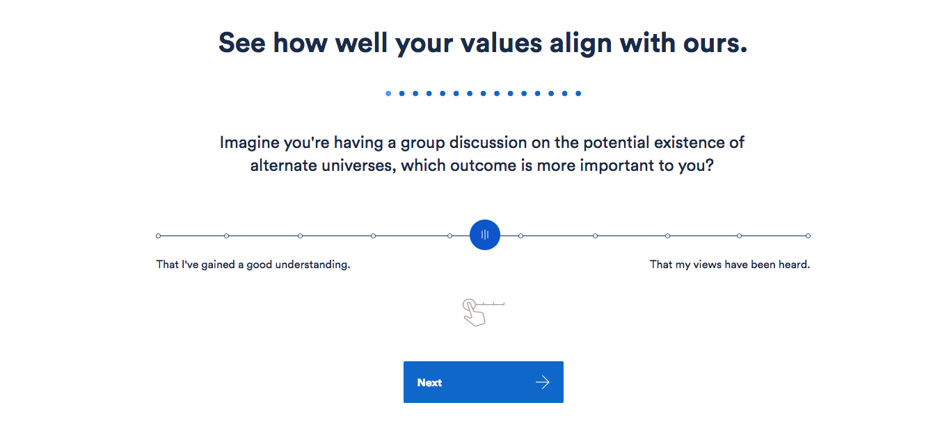 An example from our values alignment quiz