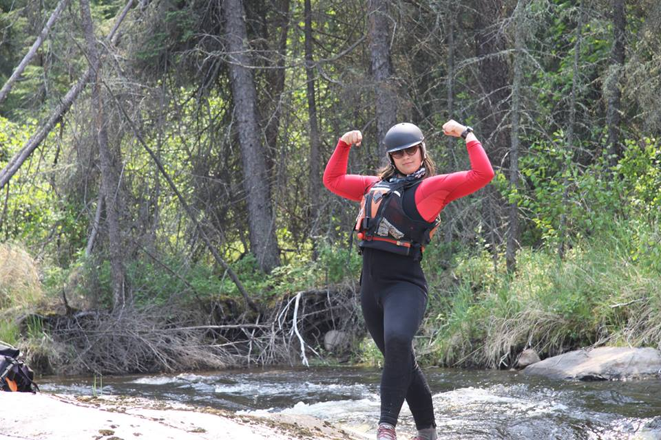 Sam Auger feeling strong on the river