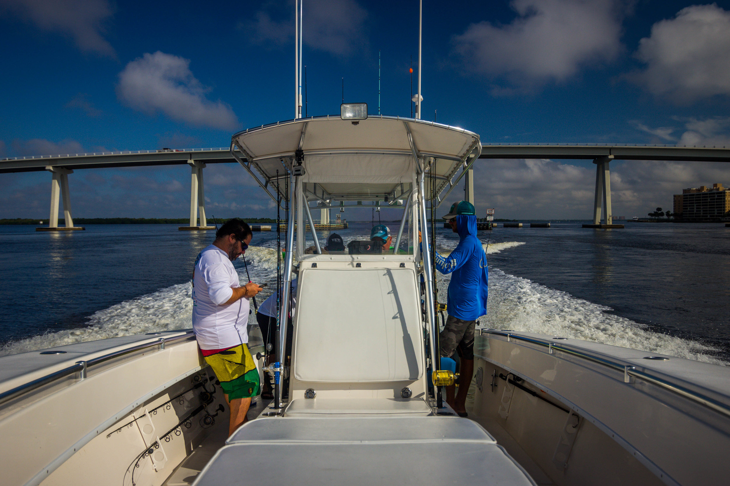 Heading out into the Gulf for another action-packed day with Southern Instinct Fishing Charters.