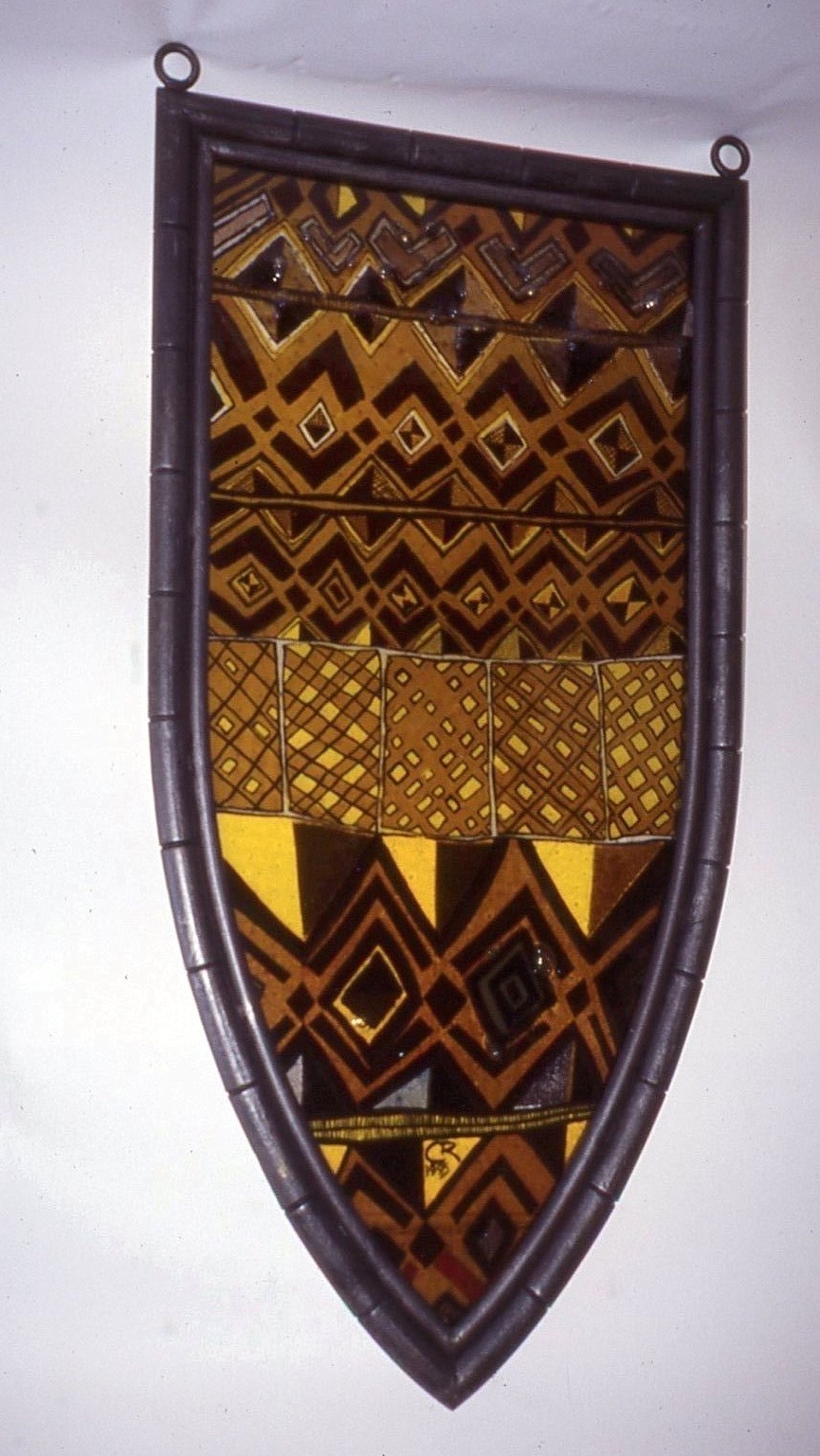 GothicKubaWindow Panel 2, 1995-1996,21Wx41H,stained glass, paint,wire cloth, steel-CUNY.jpg