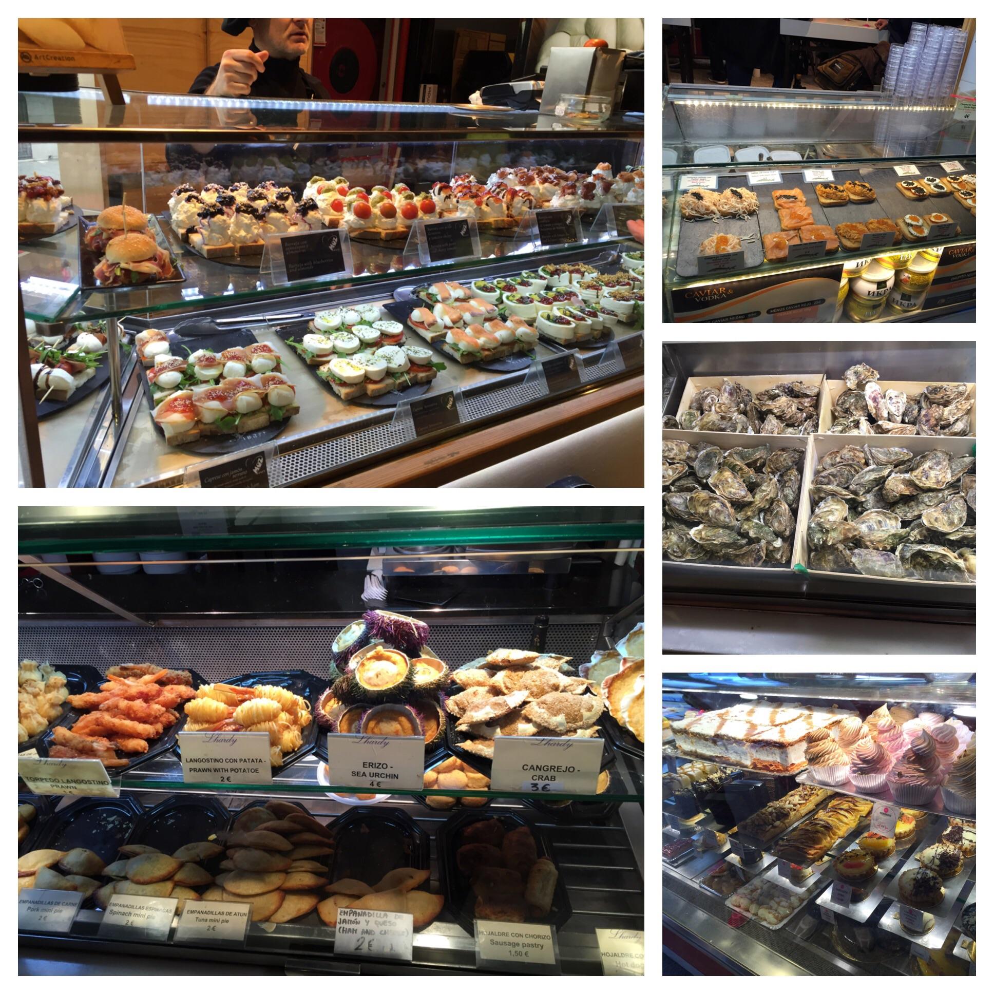 Fresh mozzarella bar, caviar bar, oysters, desserts, quiche's and empanadas. And there were actually lots more!!