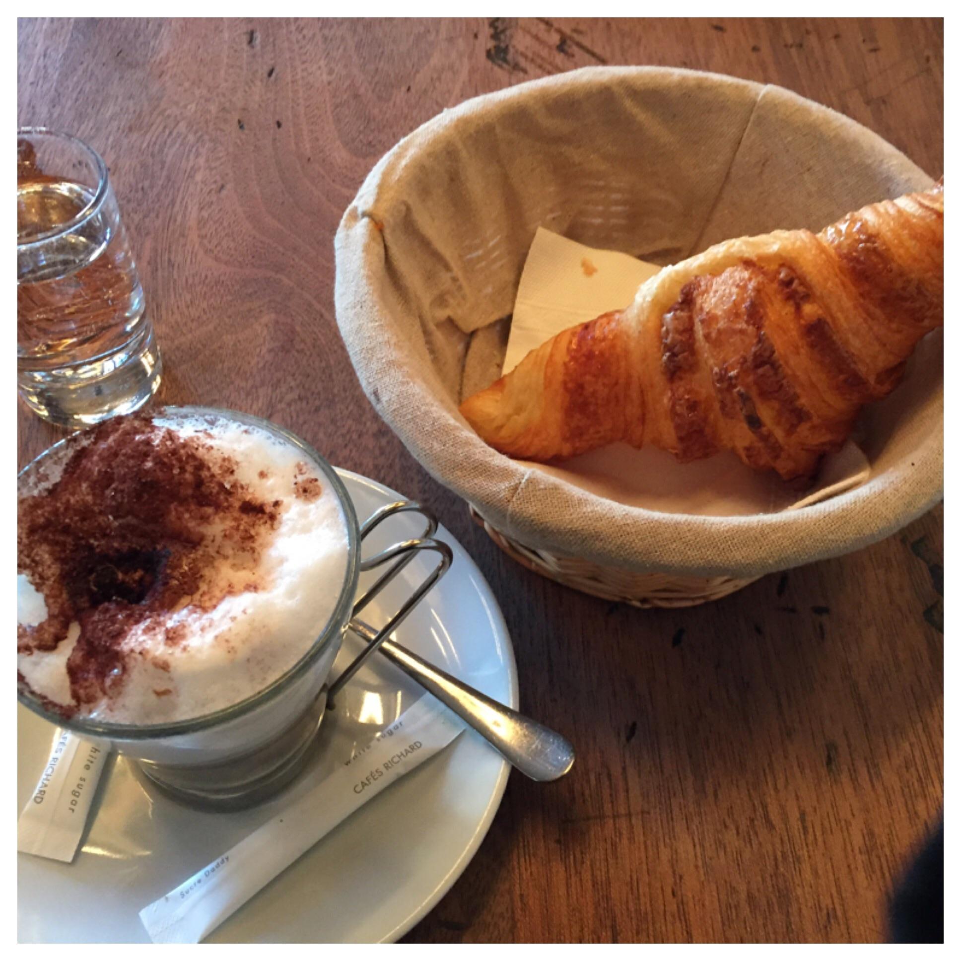 Cappucino and Croissant!!