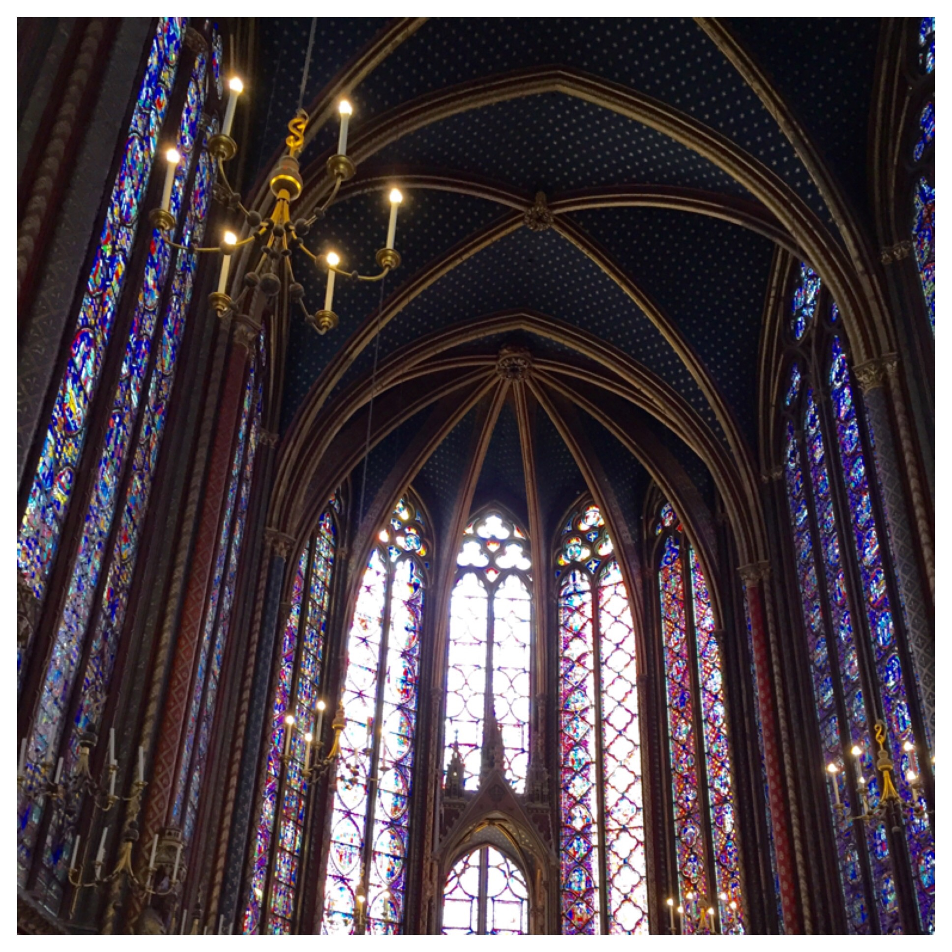 1113 scenes depicted in its 15 floor to ceiling stained-glass windows.