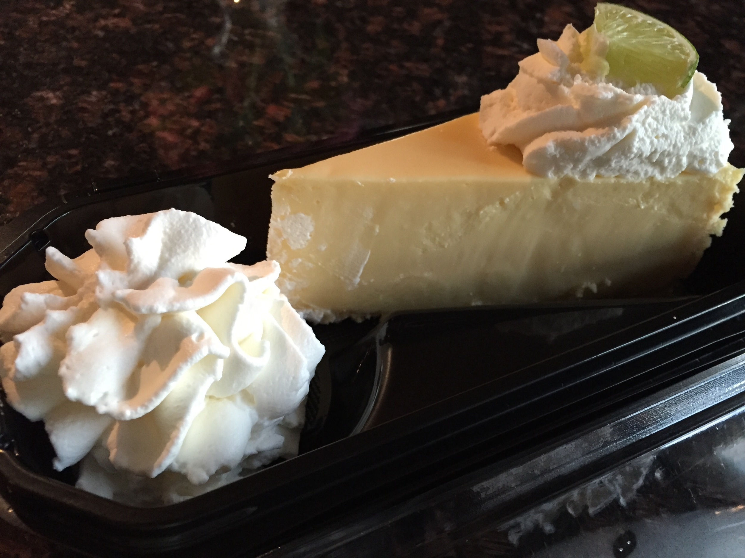 Tastes exactly like a great Key Lime pie only the texture of cheesecake! YUMM!!!