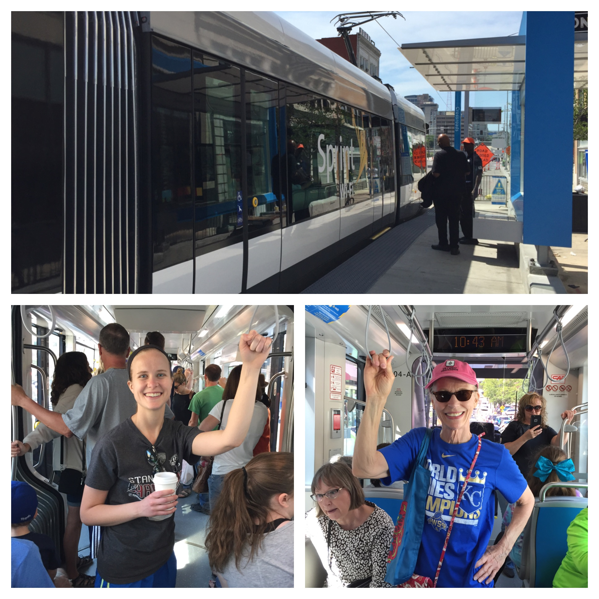 Kansas Citians riding public transportation here for the first time! It brought a lot of people down for the opening complete with 2 days of fun events and fireworks!