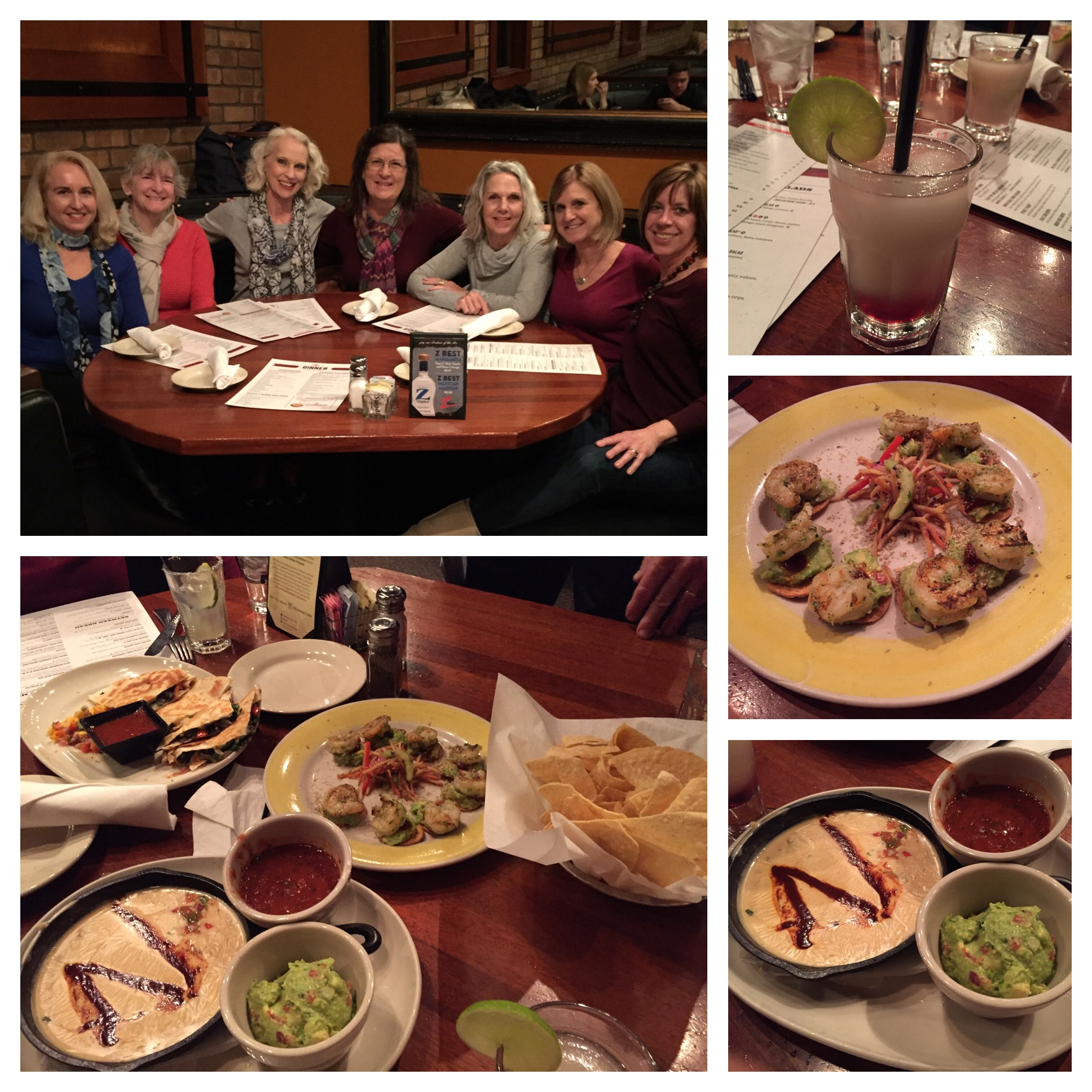 We ordered a bunch of appetizers to share and the margarita's they are famous for - all delicious!