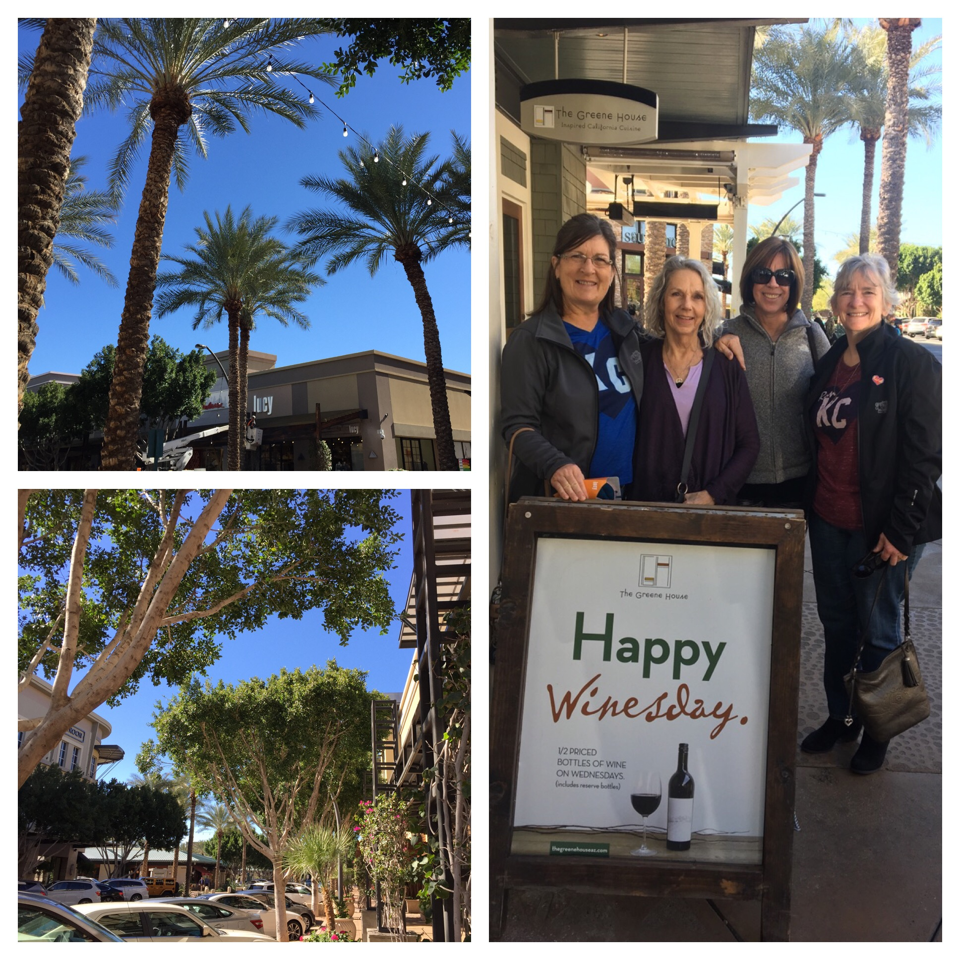 A beautiful area in Scottsdale with lots of upscale shops and restaurants - gorgeous landscaping! Isn't every day Winesday??