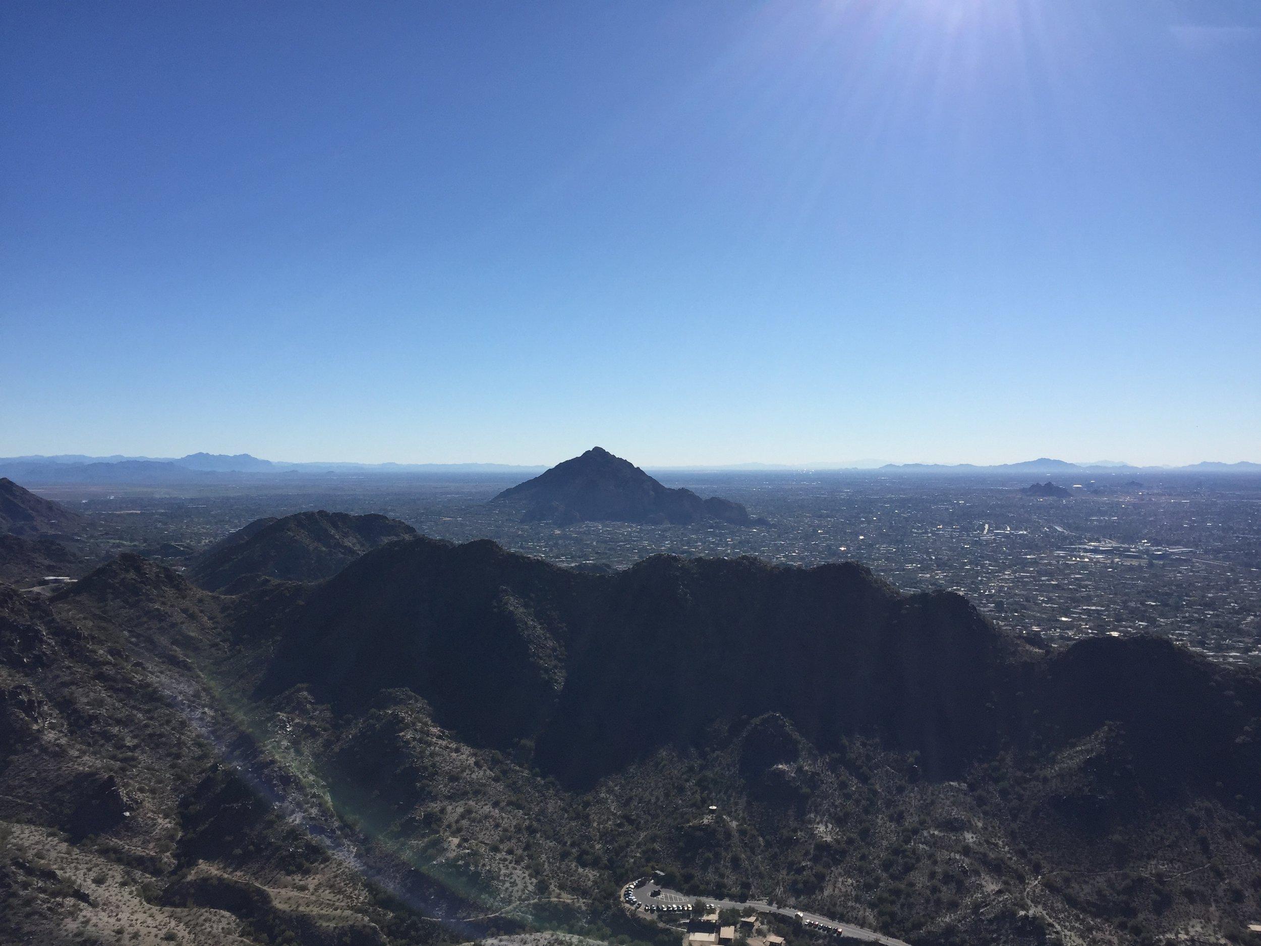 Beautiful view of Camelback Mountain.