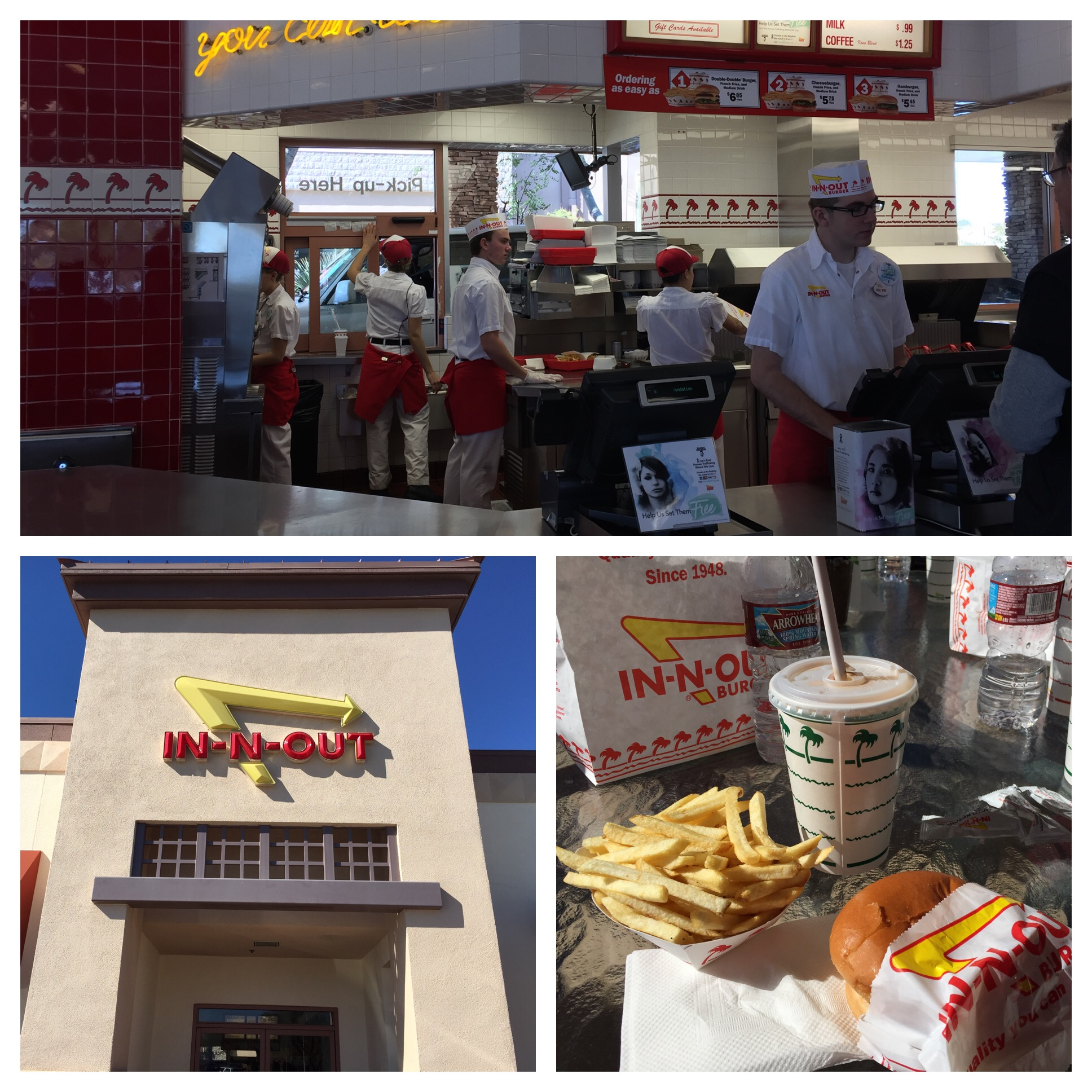 Burgers, Fries and Chocolate Shakes for everyone. Yumm! It never disappoints!