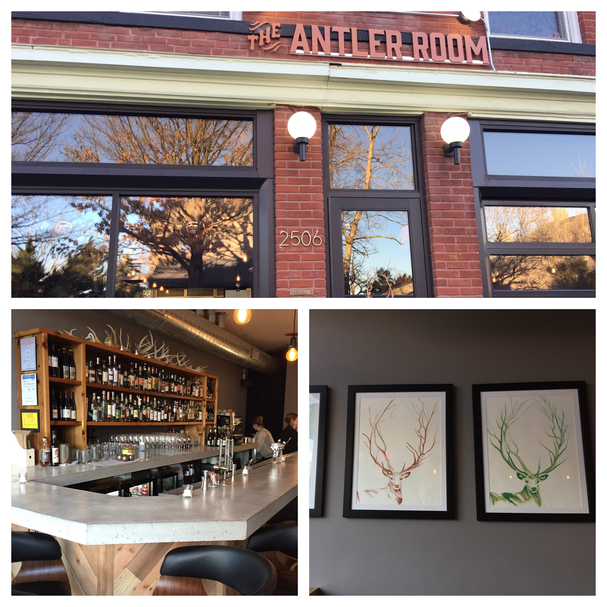 Very cool space with lots of antler details. Not large so best to make a reservation to insure you get in.