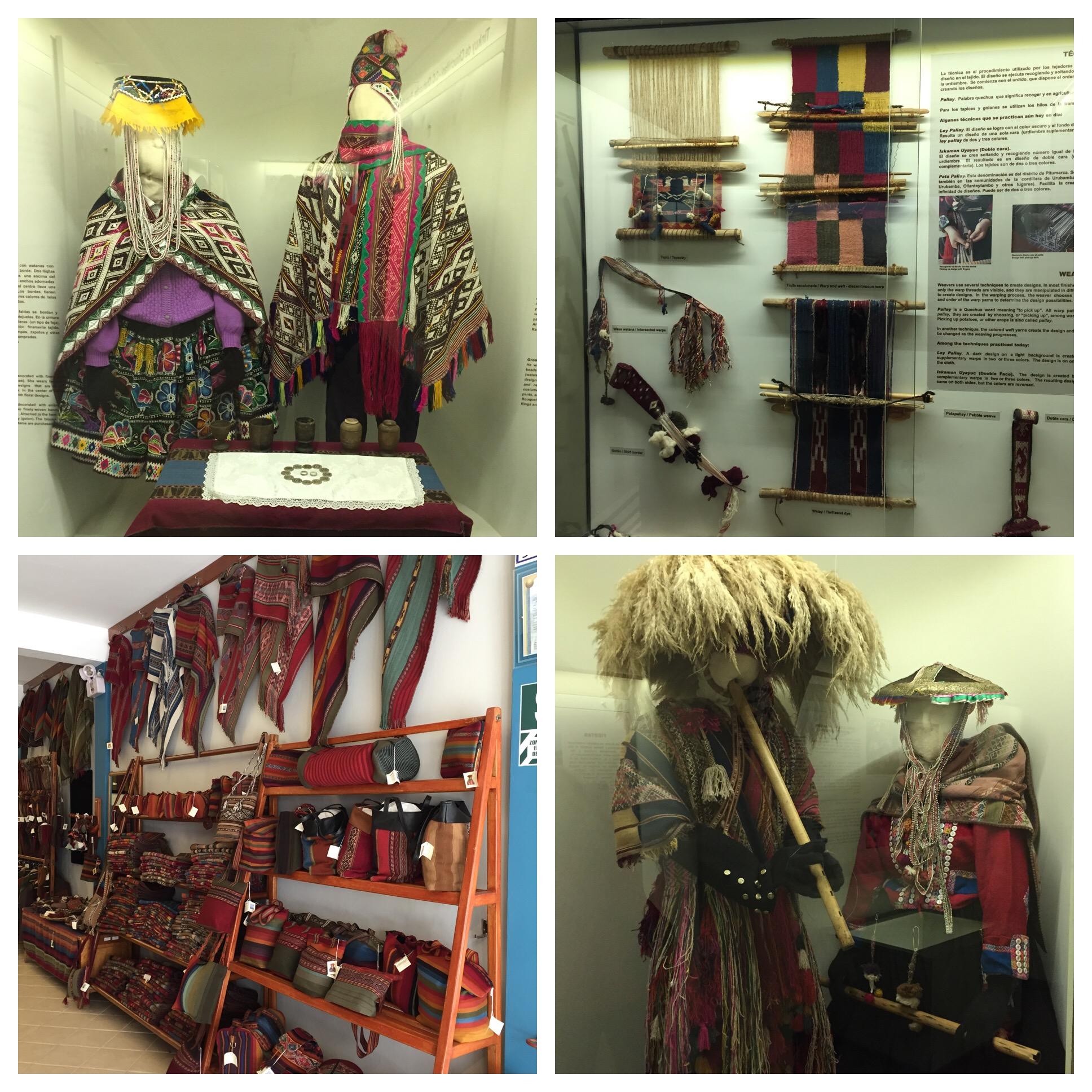Top right is traditional Peruvian wedding attire, bottom left Fiesta Costumes.