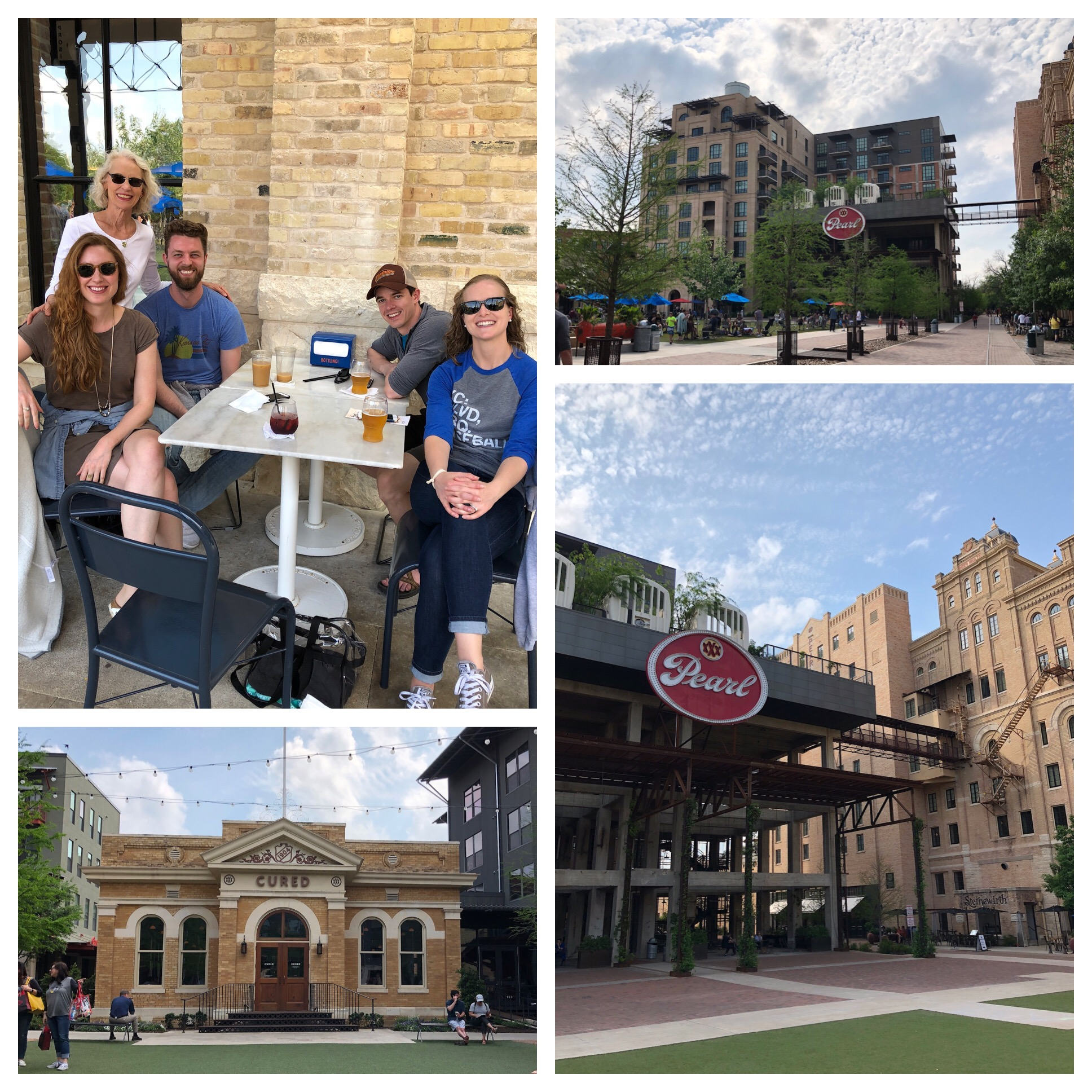 Lots of people out and about just enjoying the libations and beautiful weather.