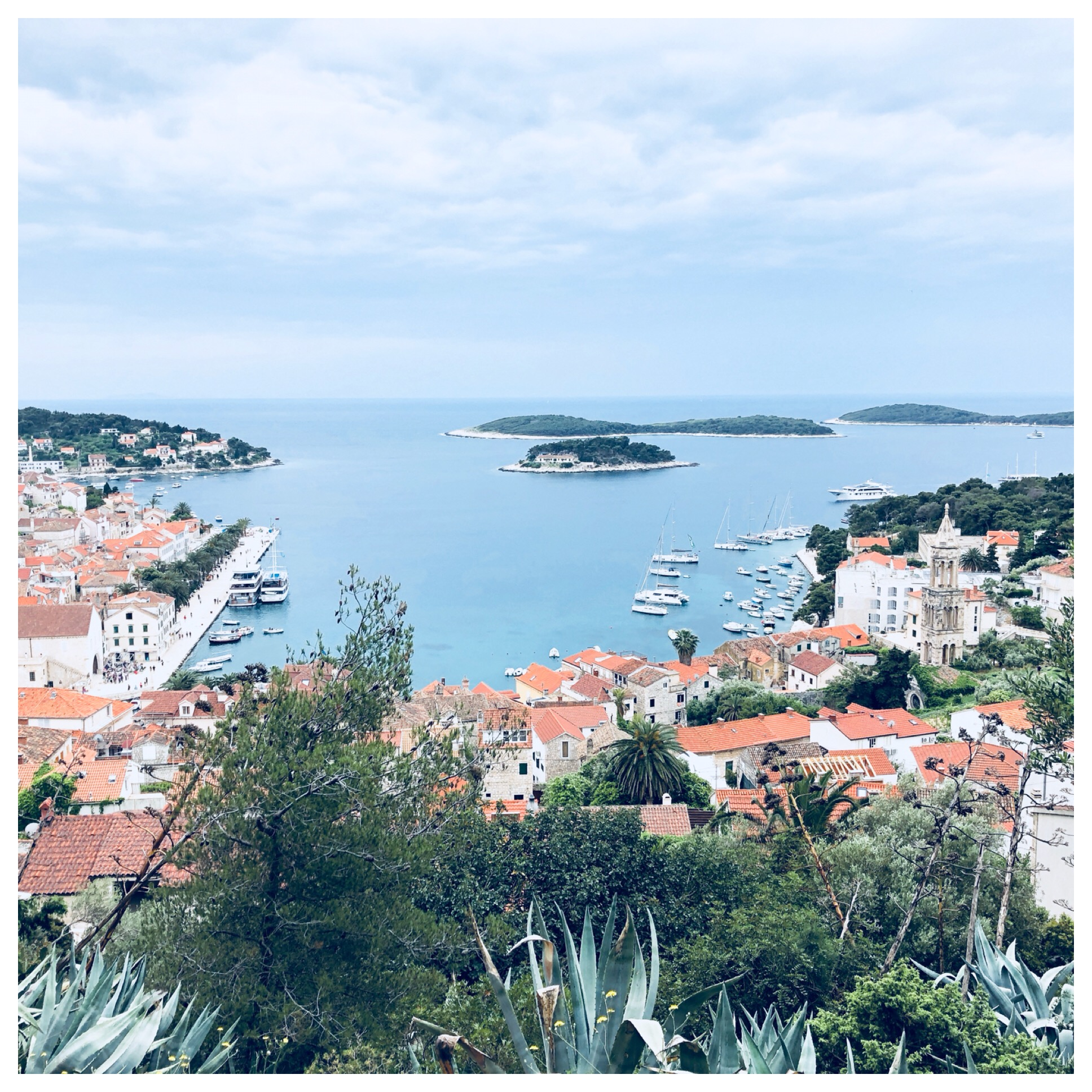Hvar harbor with views of a few of the tiny islands that are everywhere.