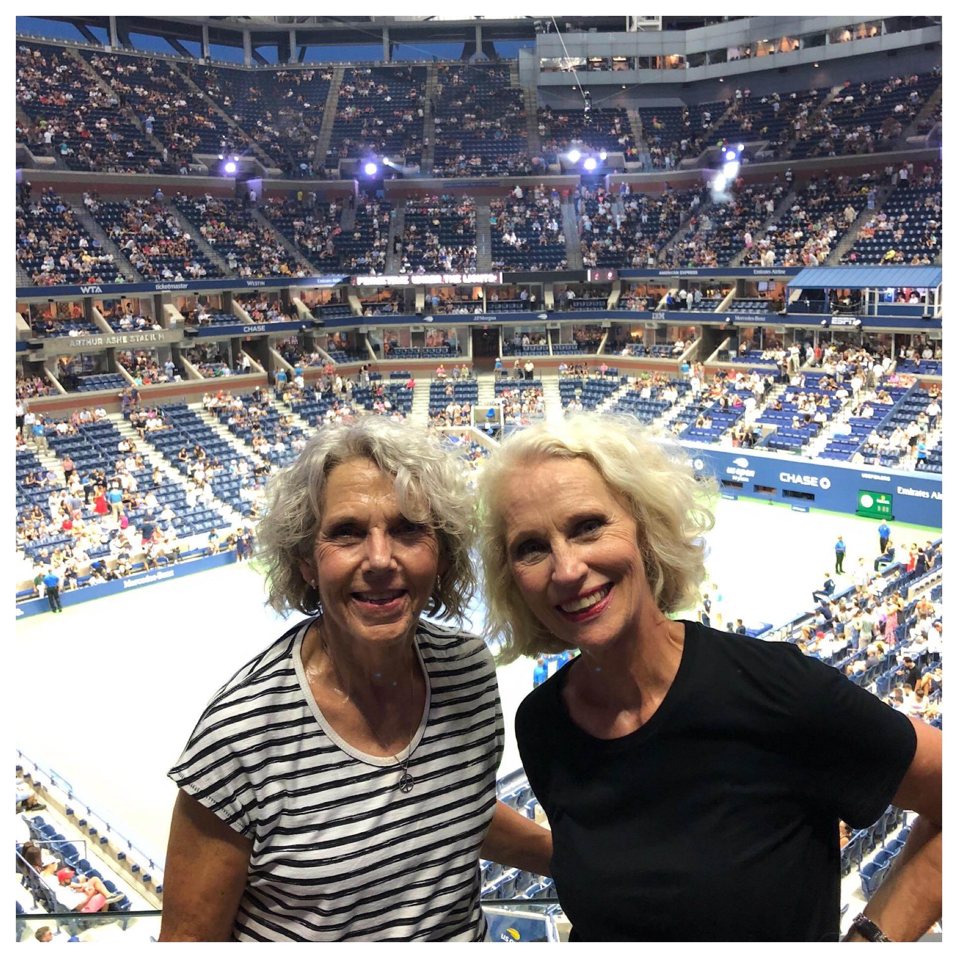 Two happy tennis fans!