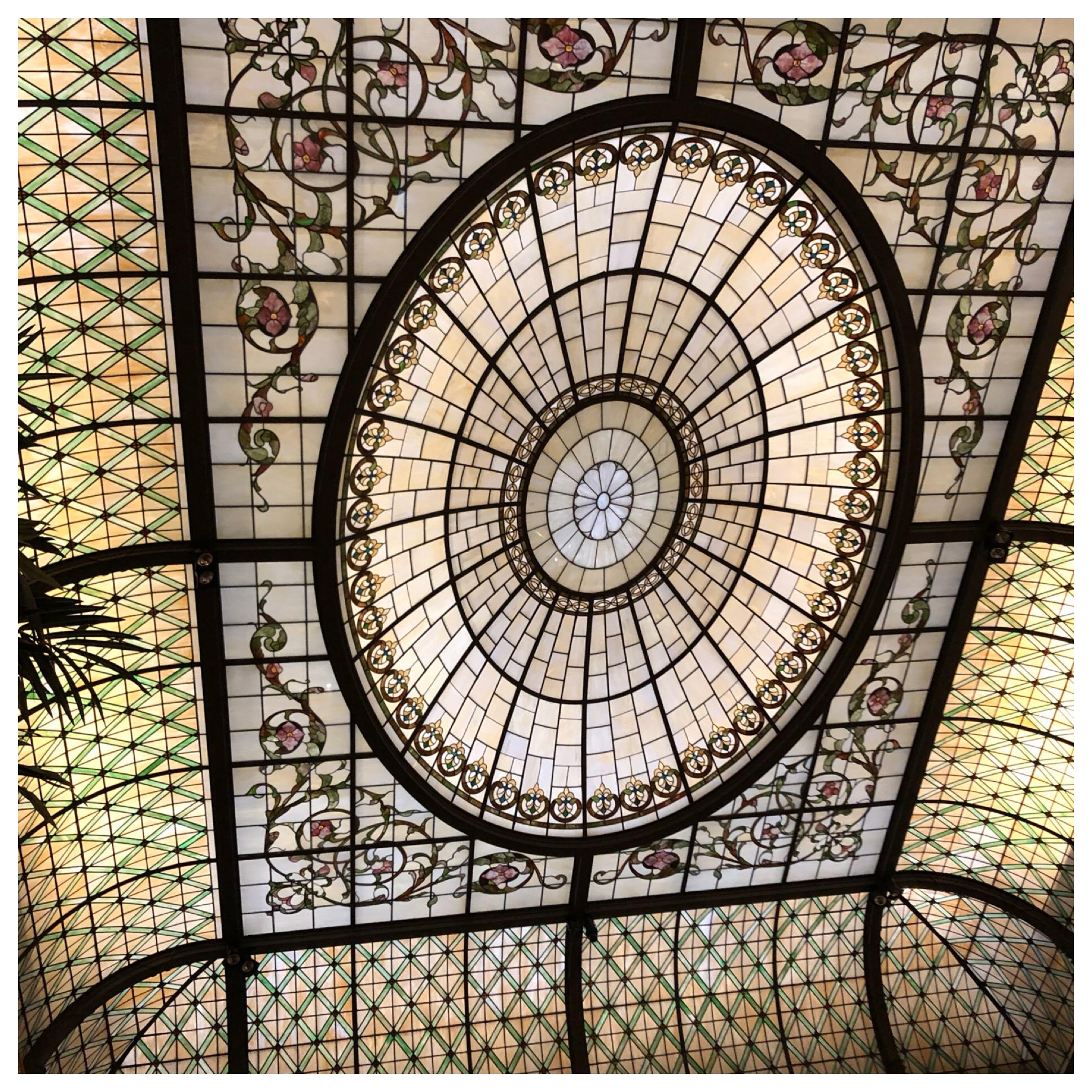Gorgeous Tiffany ceiling.