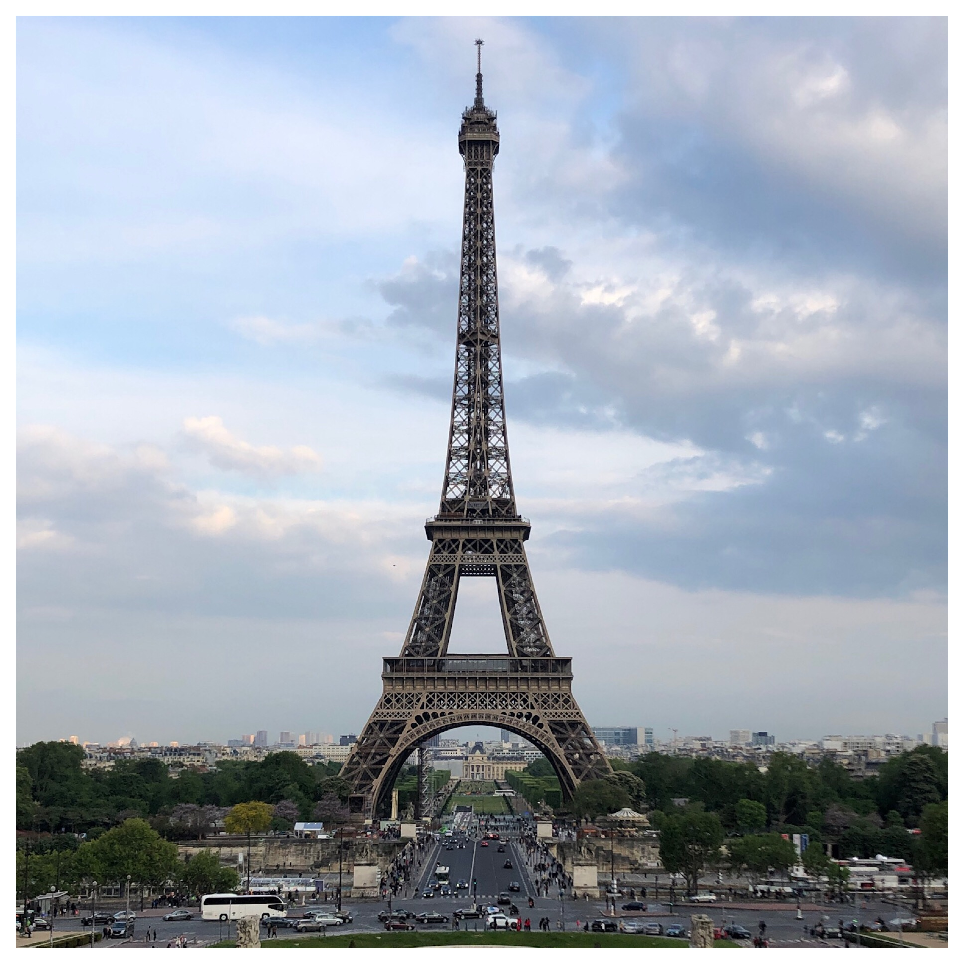 Our view from Place du Trocadero. Many would say the perfect vantage point.