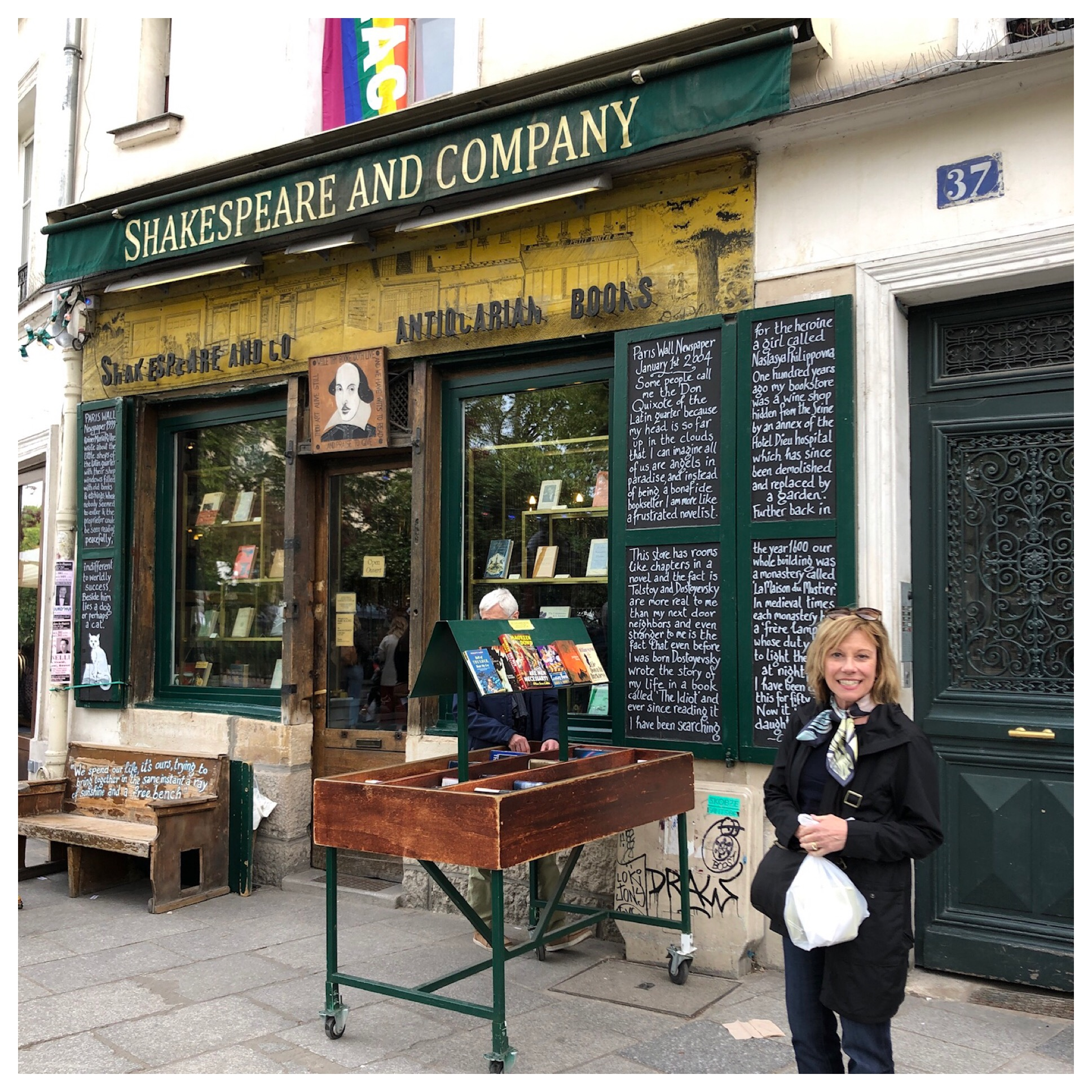 A famous American bookstore on the left bank. A meeting place for Hemingway, James Joyce, George Bernard Shaw, Gertrude Stein and Ezra Pound. Worth a stop for sure!