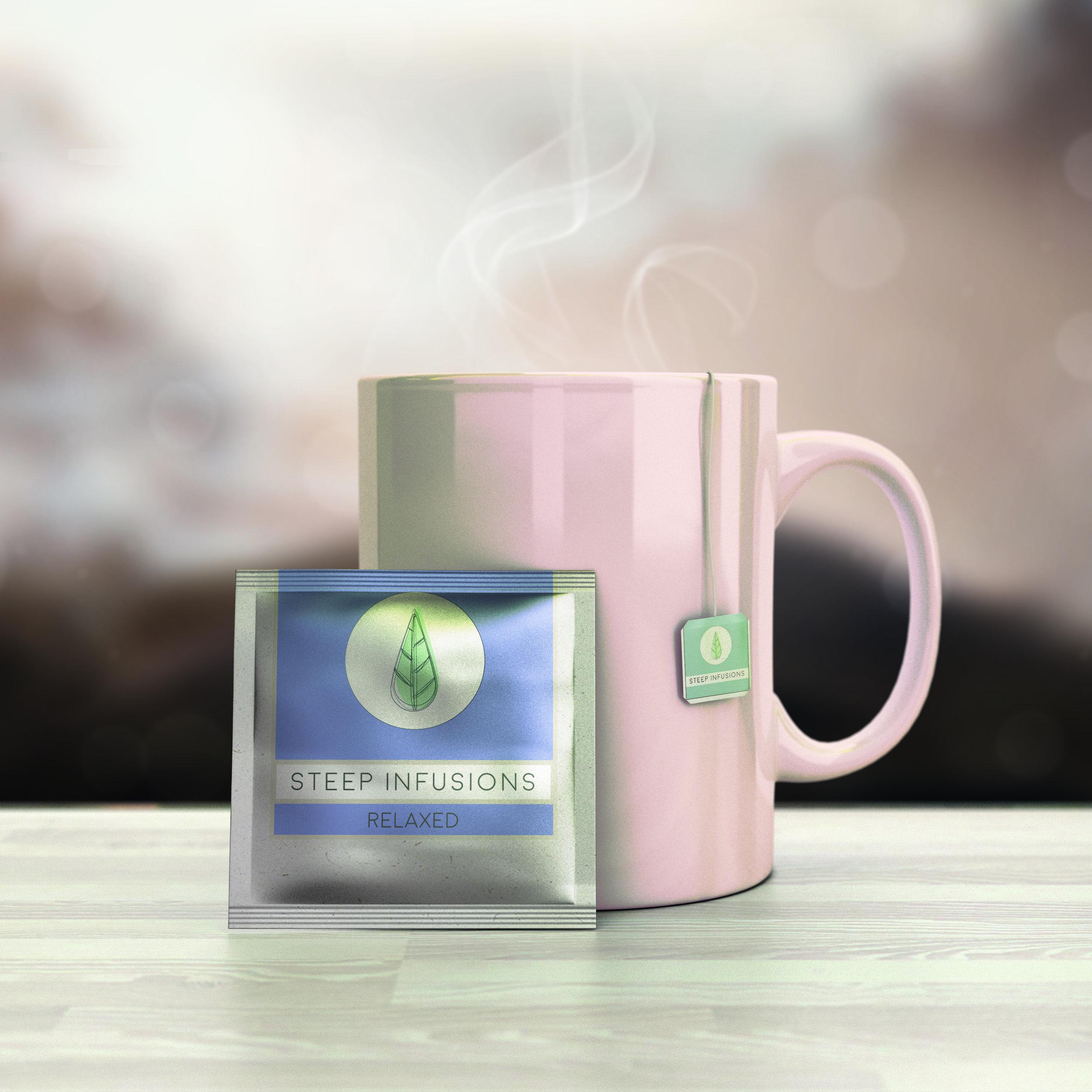 Mock up Tea Logo Graphic Design