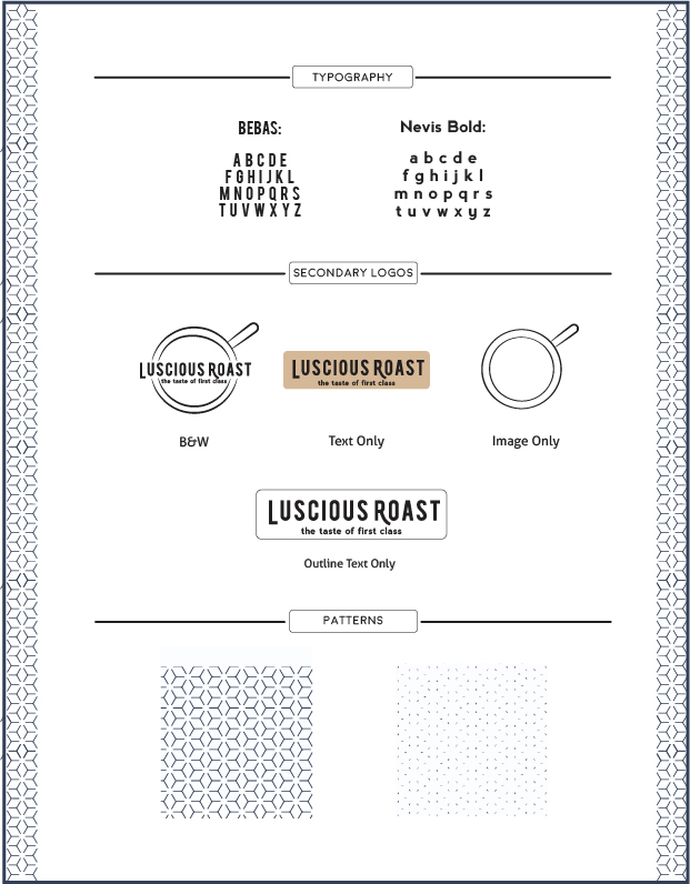 Luxury Coffee Brand Design Guide