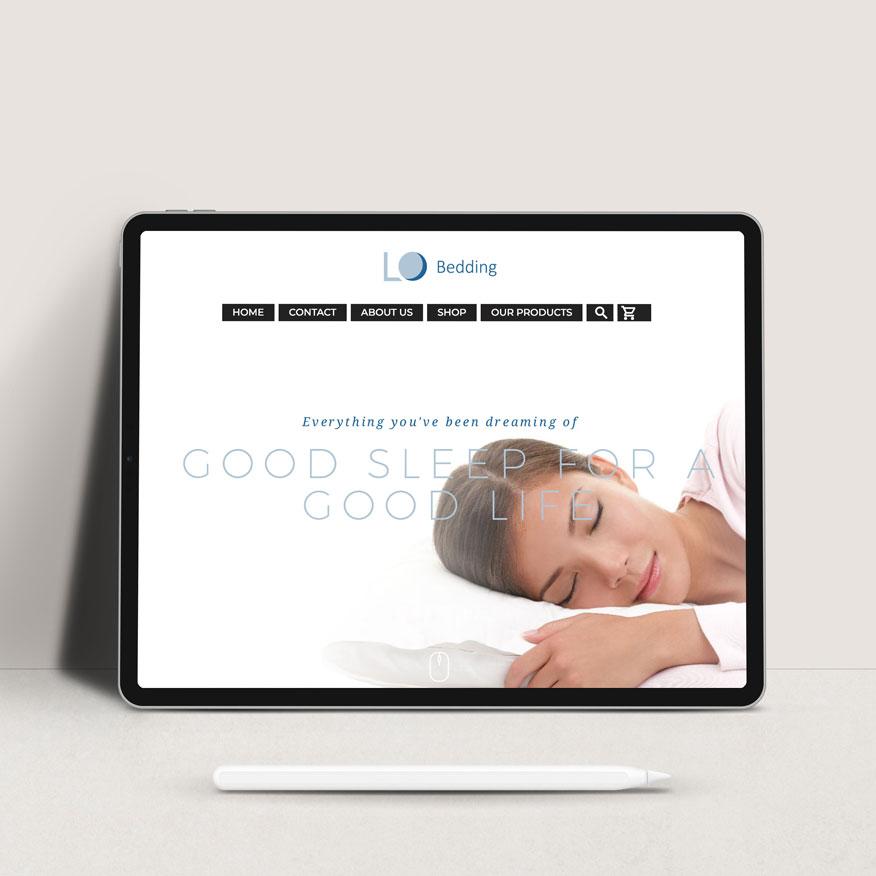 lux bedding web design + brand development