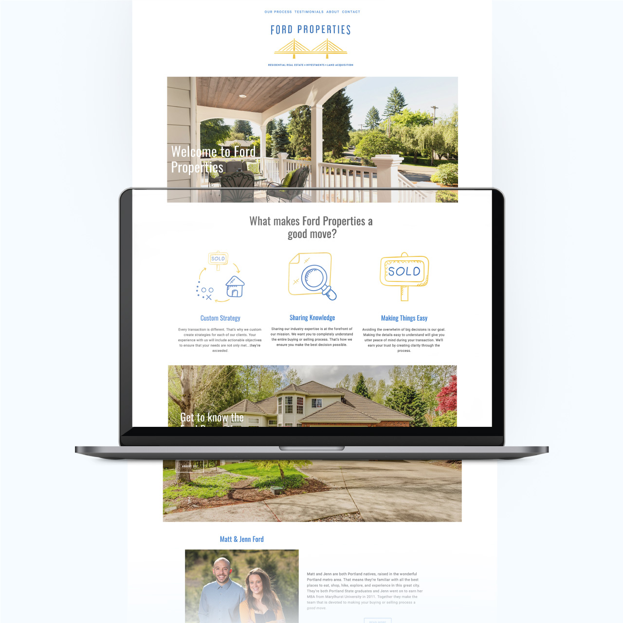 website home page design and copywriting