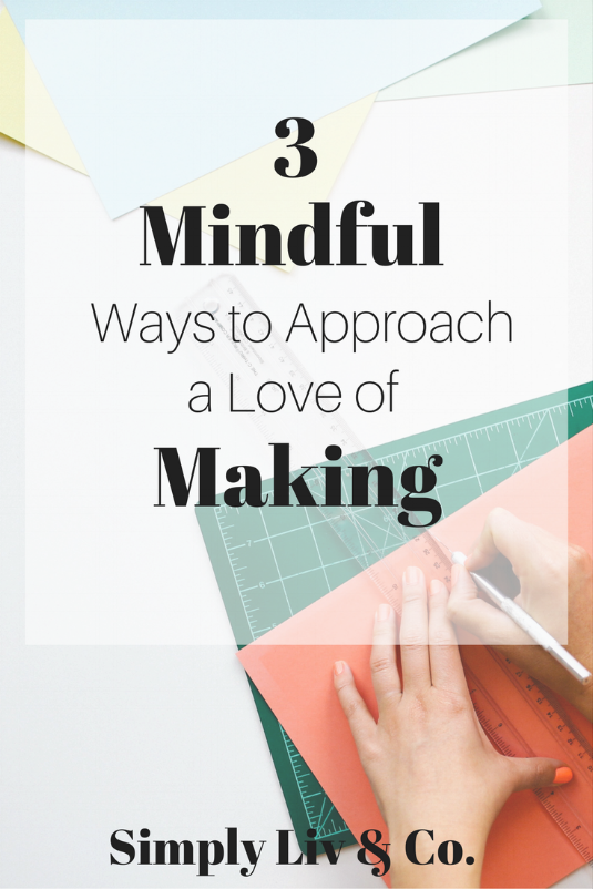 """Do you often feel like your love of creating gets in the way of your pursuit of less? With these three tips in mind, you can be mindful with your """"stash"""" of supplies and not give up your love of creating."""